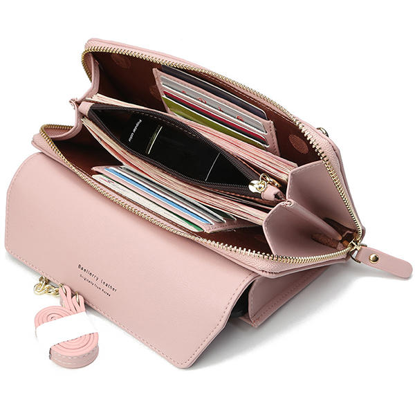 size 40 d5c02 fd587 Cell Phone Pocket Portable Girls Purse Large Capacity Card Holder Female  Chain Wallet