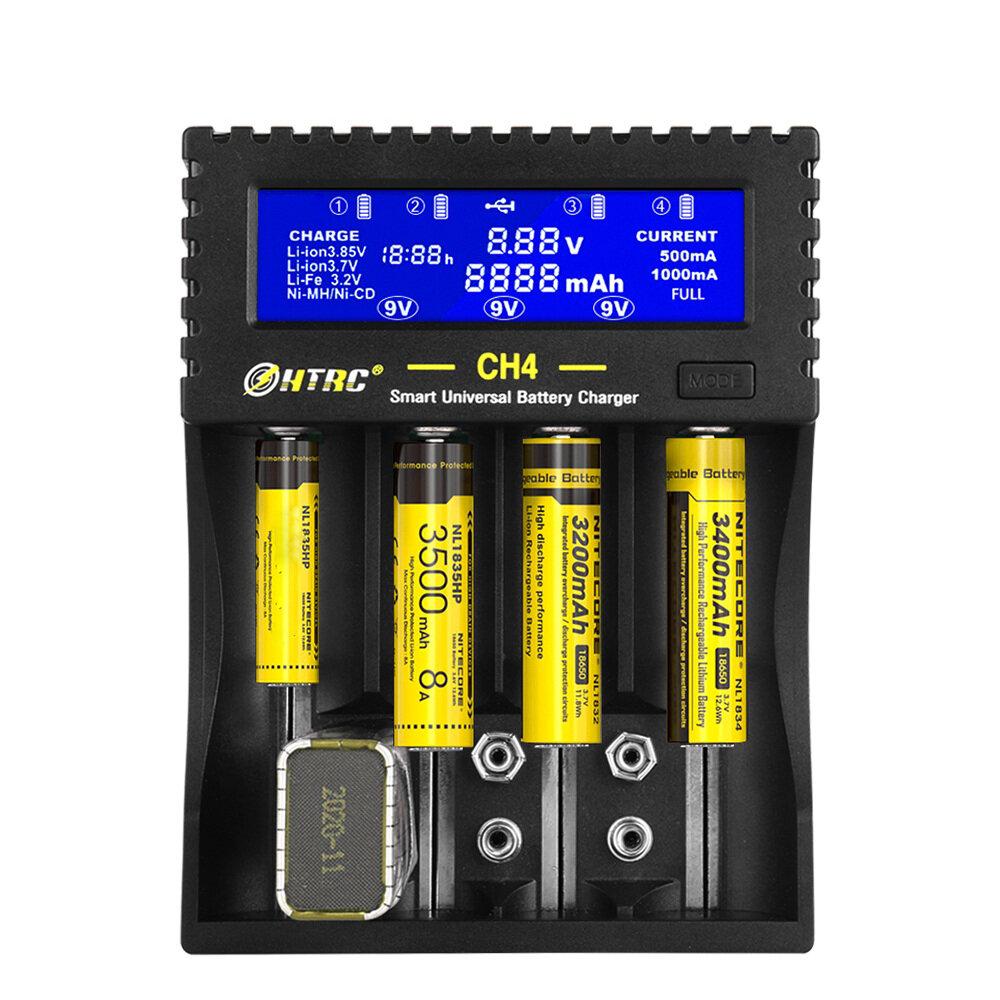 HTRC CH4 Батарея Зарядное устройство Li-ion Li-fe Ni-MH Ni-CD Smart Быстрое зарядное устройство для 18650 26650 6F22 9В