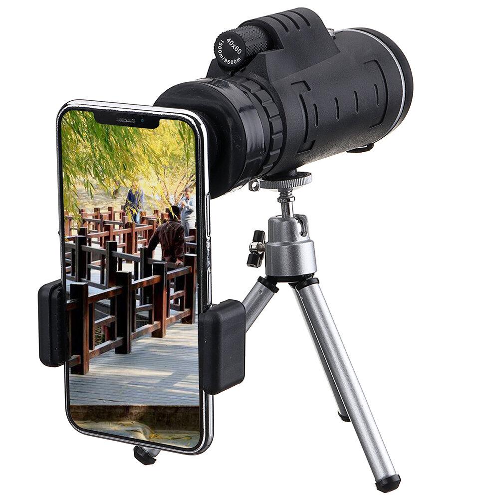 IPRee® 40X60 Monokulární optický dalekohled HD + Stativ + klip mobilního telefonu