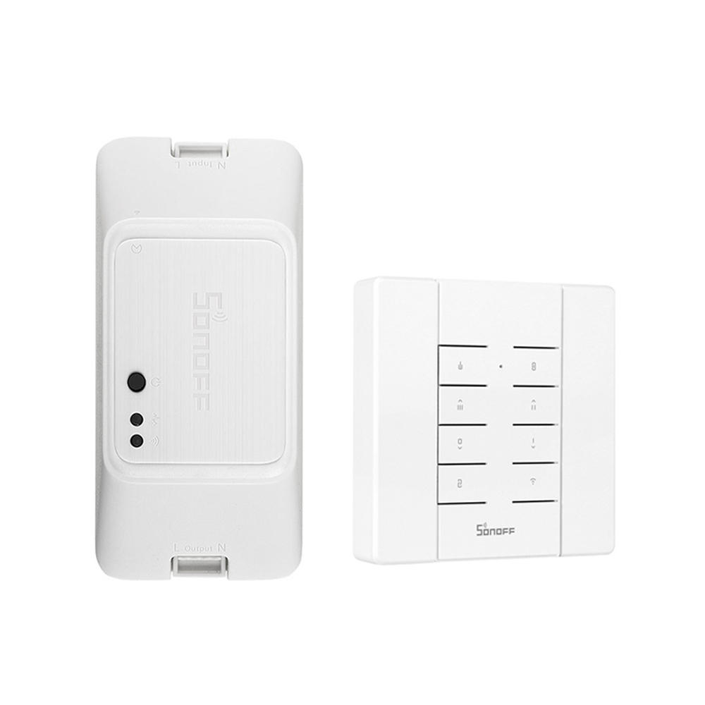 SONOFF RF R3 ON/OFF WIFI Wireless Smart RF Switch Timer Supports DIY Mode 10A 2200W AC100-240V APP/433 RF/LAN/Voice Remote Control RFR3 Works with Amazon Alexa Google Home Nest Assistant IFTTT