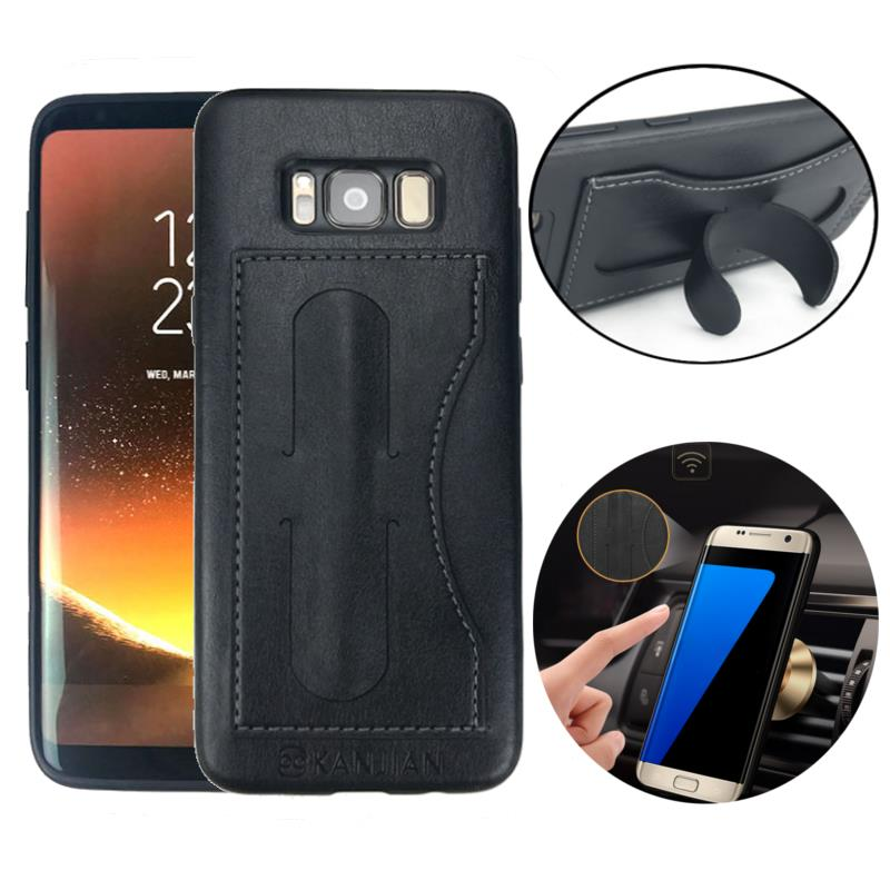 Bakeey™ PU Leather Kickstand Card Slot Magnetic Cover Case for Samsung Galaxy S8 Plus 6.2 Inch