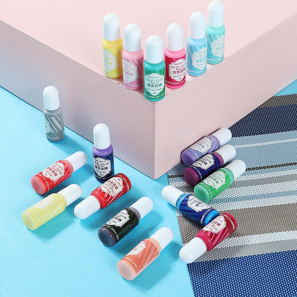 15g Solid Color Pigment 18 Colors UV Resin Crystal Glue Colorant Dyes DIY Art Craft Sealing Bottle