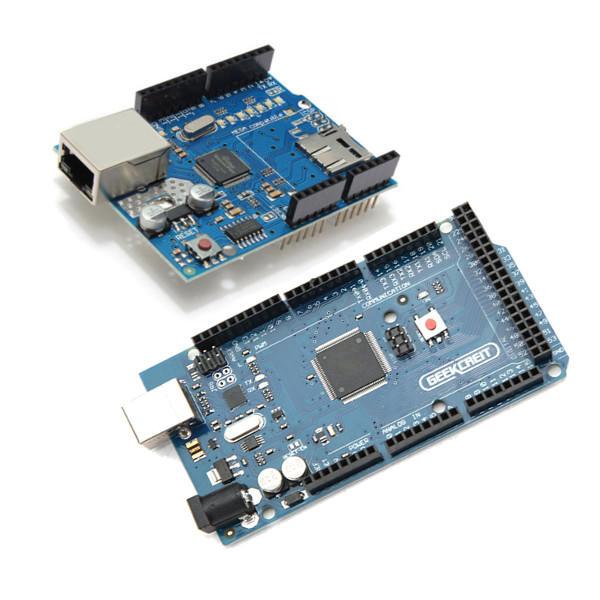 Geekcreit® MEGA 2560 R3 Development Board MEGA2560 With Ethernet Shield W5100 For Arduino