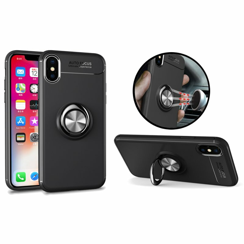 C-KU 360º Rotating Ring Grip Kicktand Case For iPhone X/8/8 Plus/7/7 Plus/6s/6s Plus/6/6 Plus фото