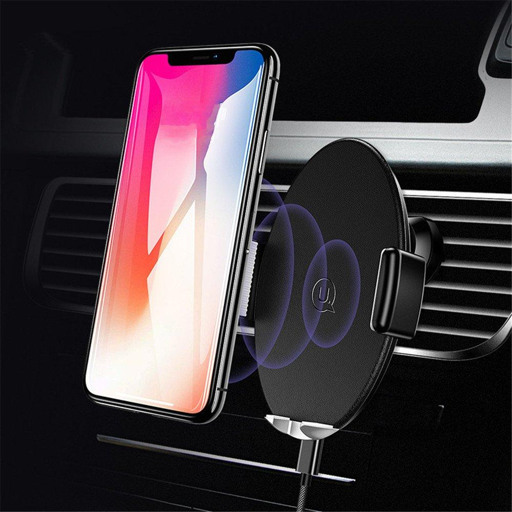 USAMS Infrared Induction Auto Lock 360 Degree Rotation Car Phone Holder for iPhone Xiaomi Smartphone