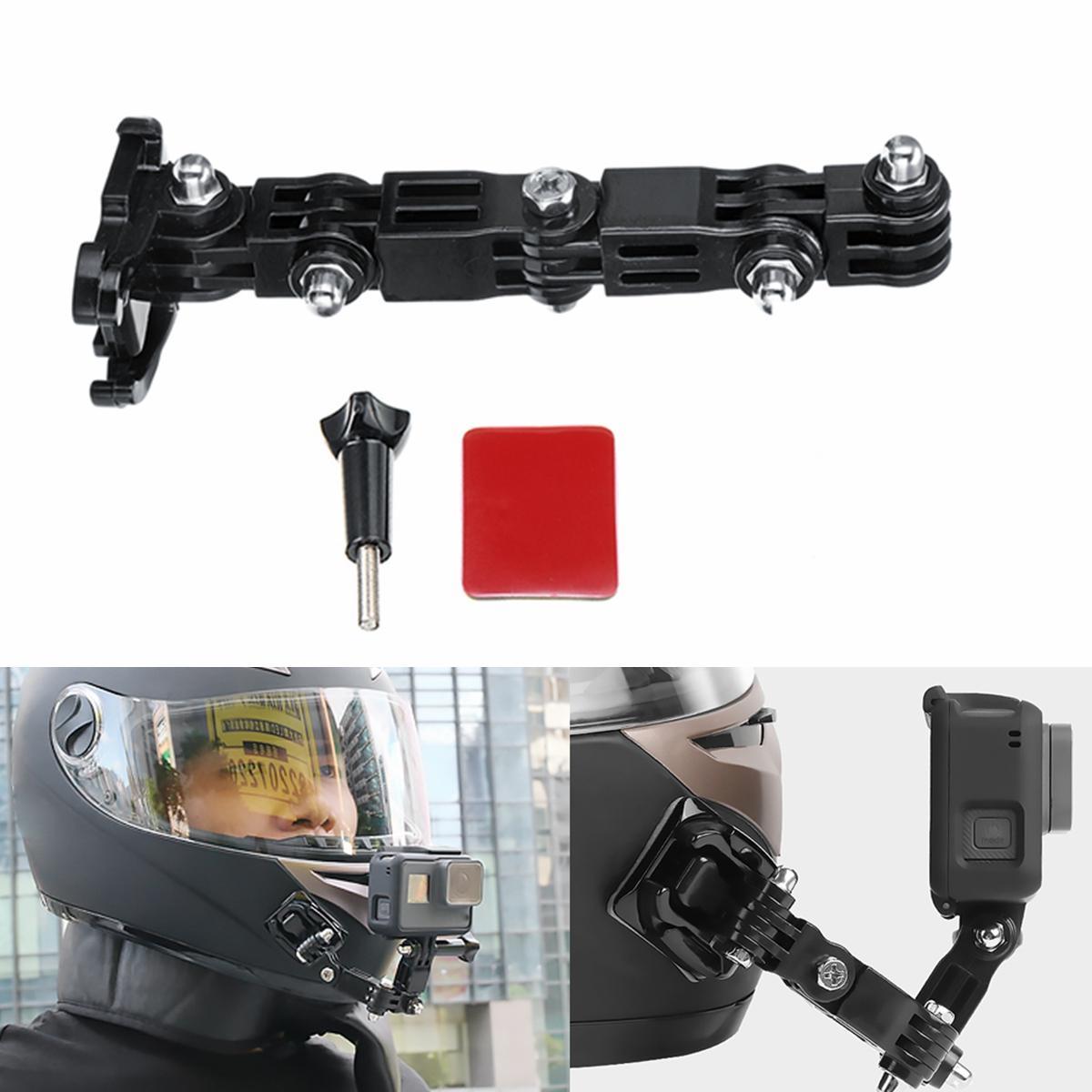 Adhesive Full Face Helmet Front Chin Mount For Sjcam Antshares Gopro Hero 6 5 4 3 Action Camera