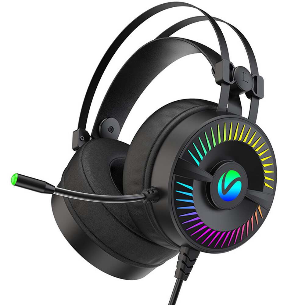 W.Hunter G500 Gaming Headset 50mm Speaker Unit 5D Surround Sound Powerful Bass Noise Reduction Mic for PC Laptop Mobile
