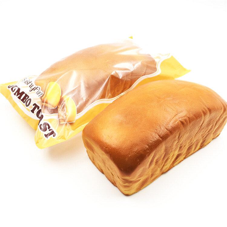 SquishyFun Squishy Jumbo Toast Хлеб 20см Медленный рост Оригинальная упаковка Коллекция подарков Декор Игрушка