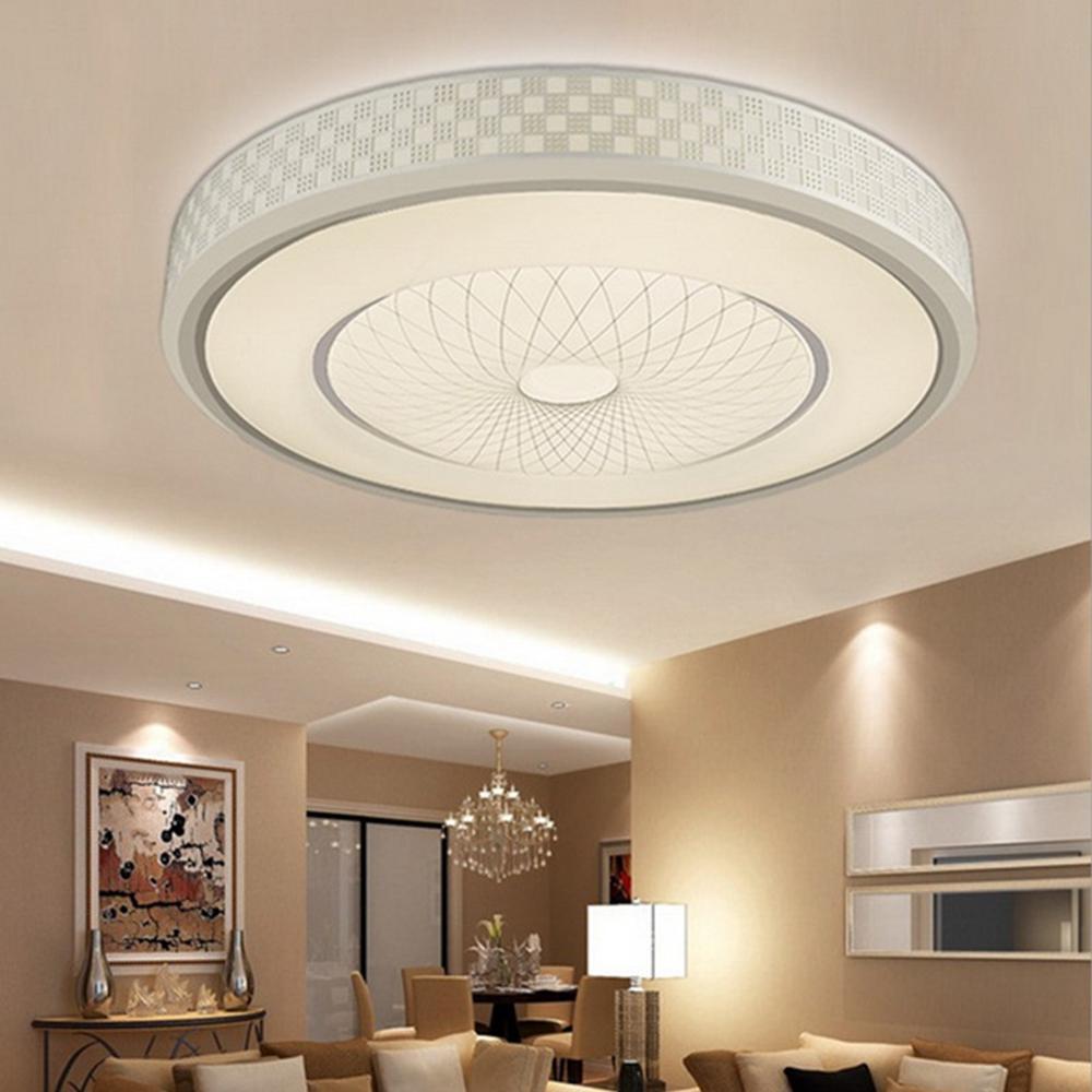 12w 24 Led Bright Round Ceiling Down Light Modern Luxury Flush Acrylic Lamp