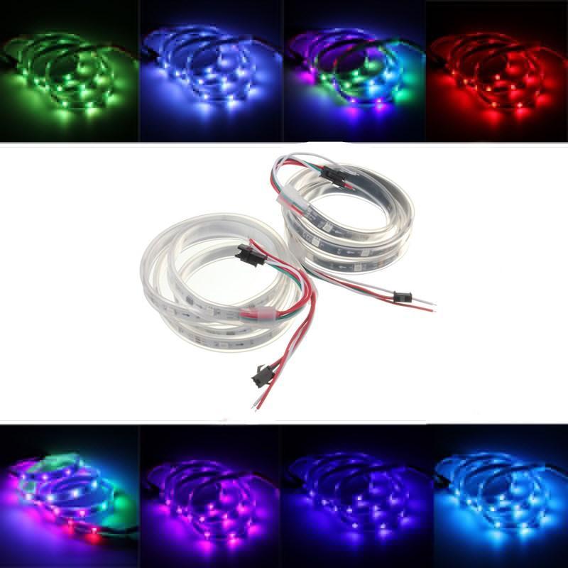 WS2811 1M LED Strip 30 SMD 5050 RGB Dream Color waterproof IP65 DC 12V