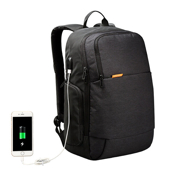 KINGSONS Мужская внешняя зарядка USB Анти Кража Рюкзак для ноутбука для 15,6 дюймов Ноутбук