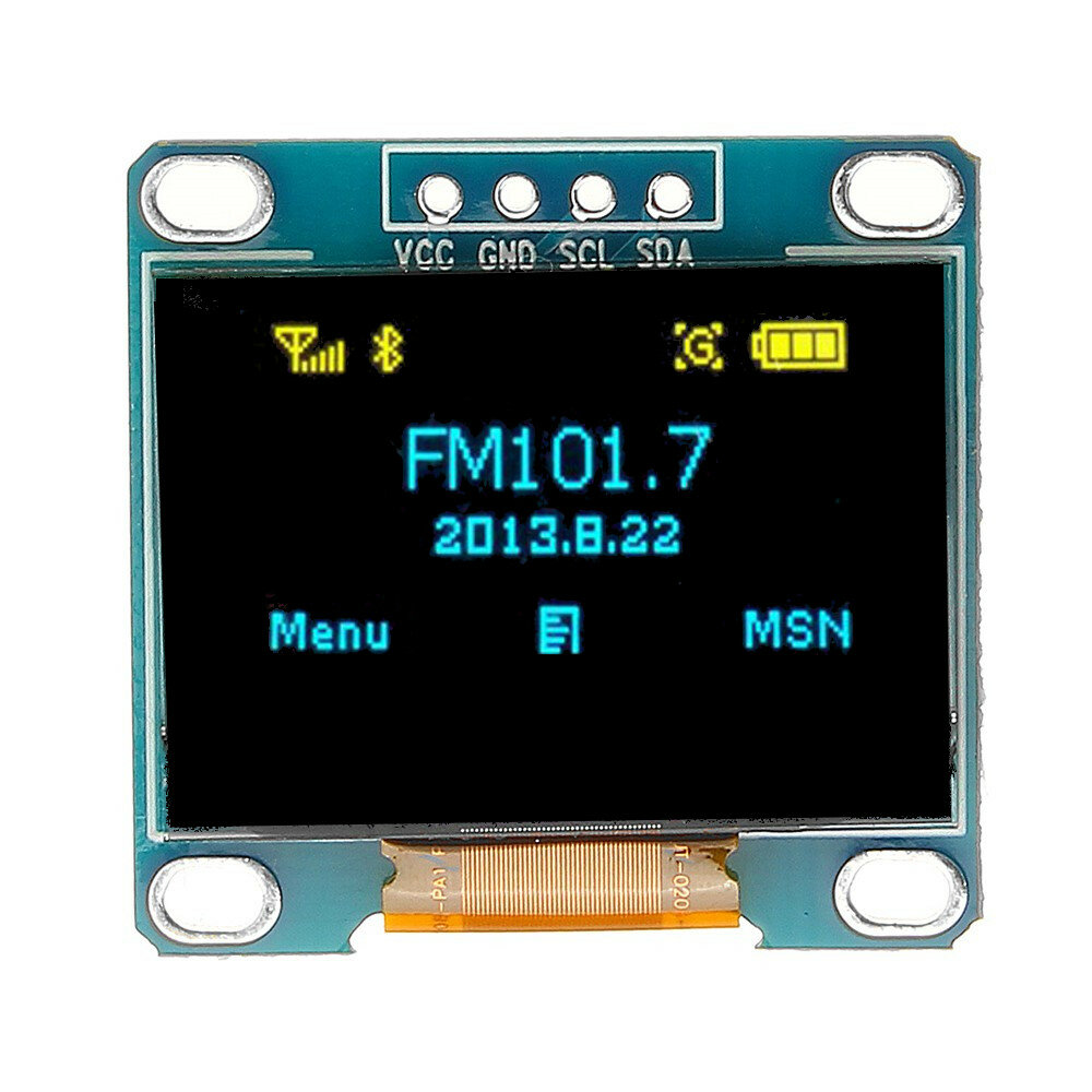 0.96 Inch 4Pin Blue Yellow IIC I2C OLED Display Module For Arduino
