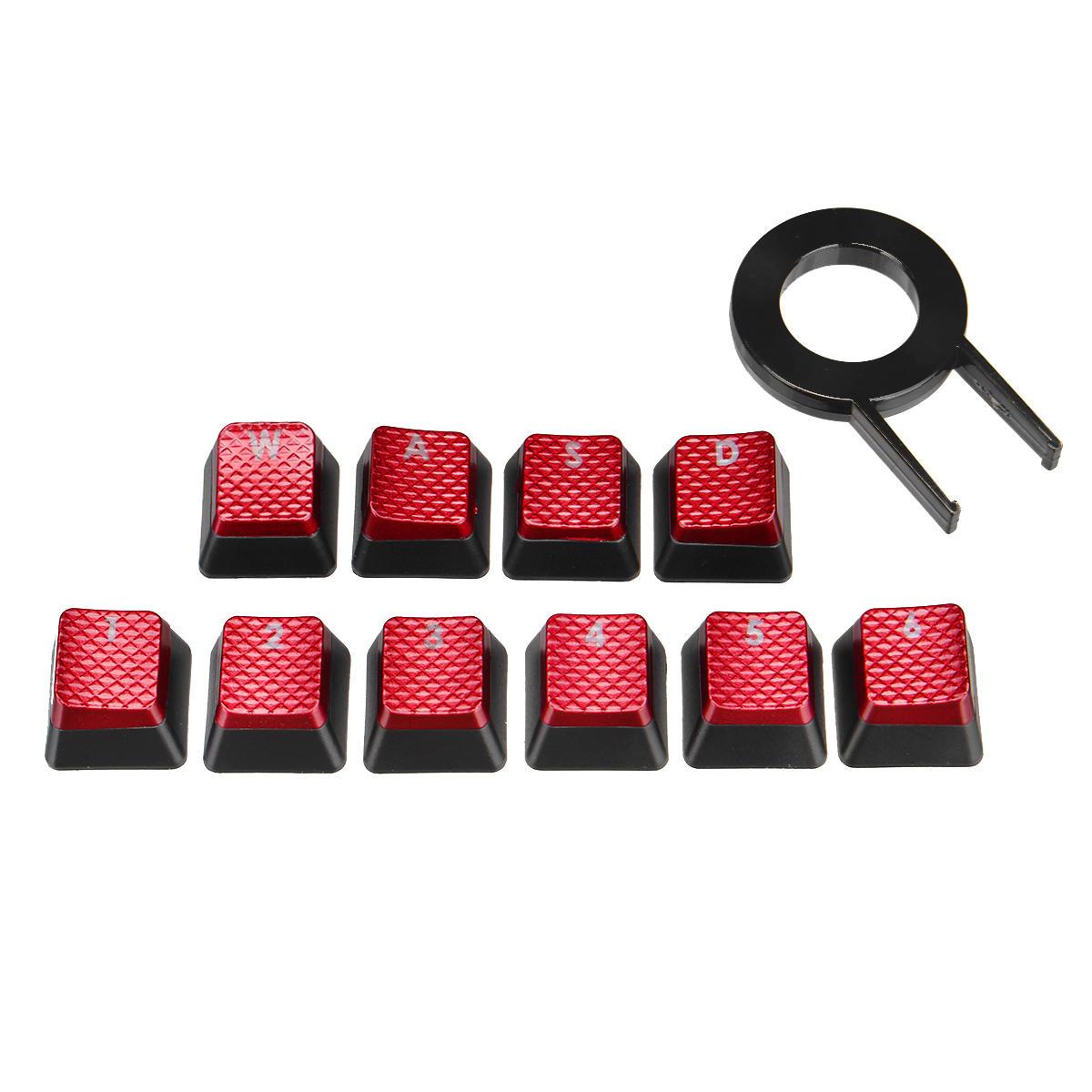 10 Key Backlit Translucent WASD Keycap Key Cap for MX Switch Mechanical Keyboard for Corsair FPS