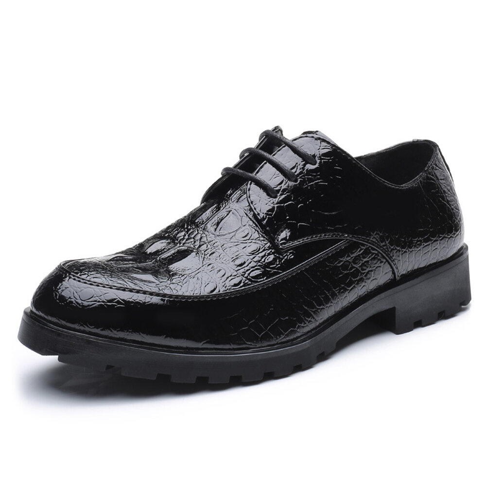 Men Microfiber Formal Shoes Soft Business Casual Oxfords