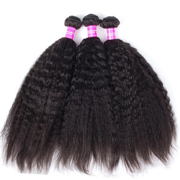 1 Bundle Kinky Straight 100% Brazilian Human Virgin Hair Extension Weave Bundles Nature Color