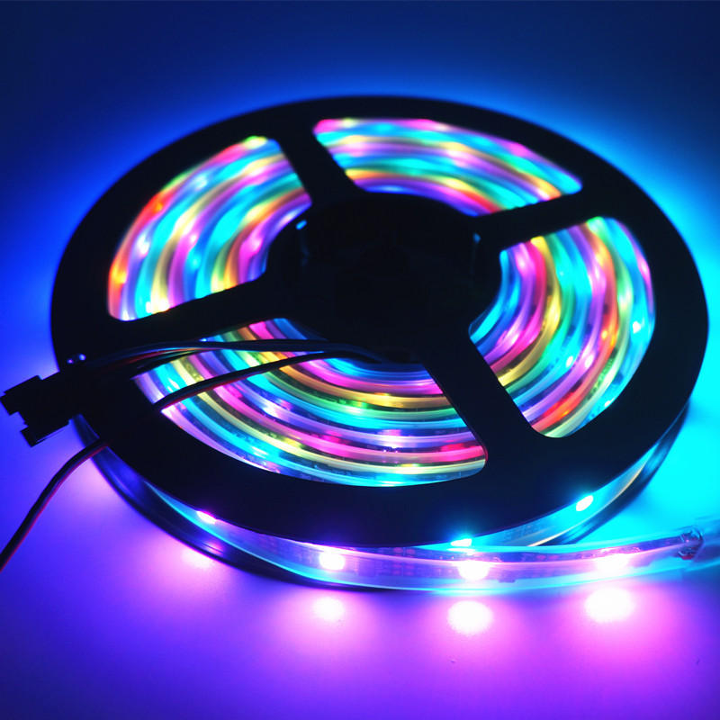 DC5V 5M SMD 5050 WS2812B RGB 10mm वाटरप्रूफ LED स्ट्रिप रोप लाइट