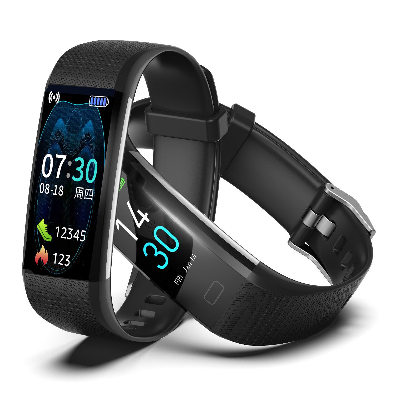 [Body Temperature Monitor] Runmifit S5 2.0 BT5.0 Heart Rate Blood Pressure Oxygen Monitor 16 Sports Modes Fitness Tracker IP68 Waterproof Smart Watch