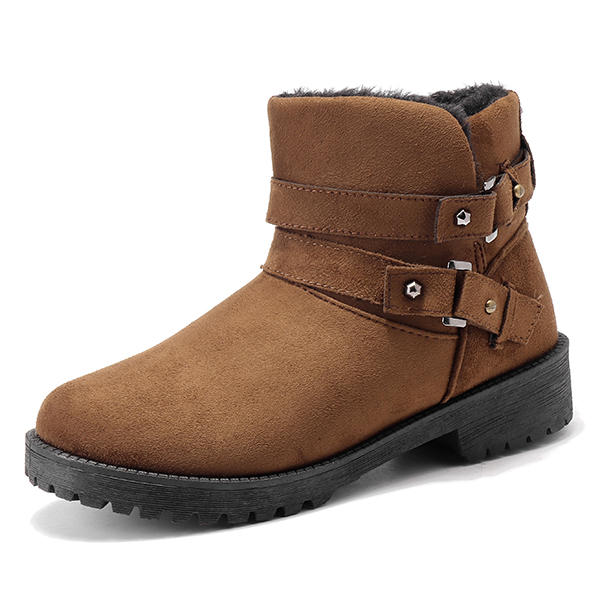 US Size 5-12 Fur Lining Keep Warm Buckle Casual Cotton Snow Boots