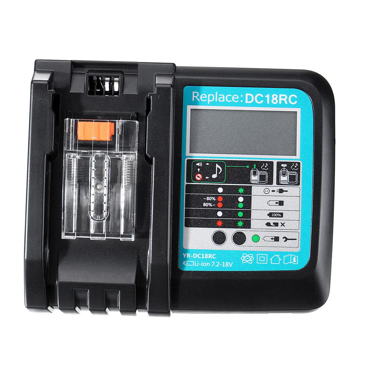 Картинка - DC18RC быстрое литий-ионное зарядное устройство USB Батарея LED Дисплей BL1830 BL1840 BL1850 для 14,4 В 18 В Makita Бата