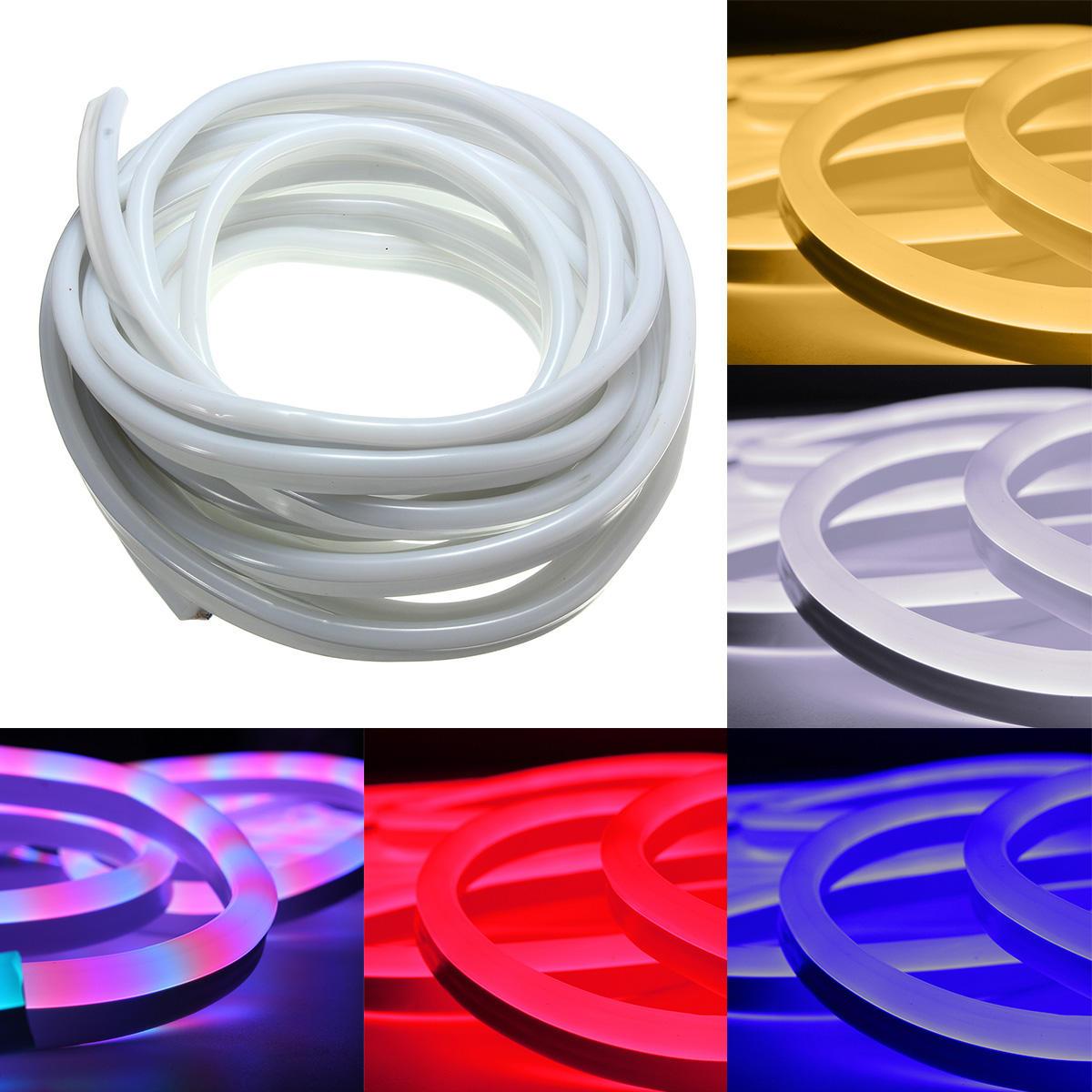 10m 2835 LED corda de néon flexível tira luz xmas exterior à prova d'água 220v