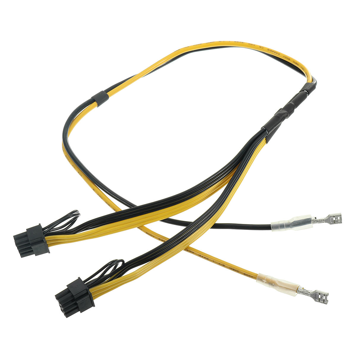 Dual PCIe 8pin Power Cord 6+2pin DIY Splitter Power Cable For Graphics  Video Card RIG Miner