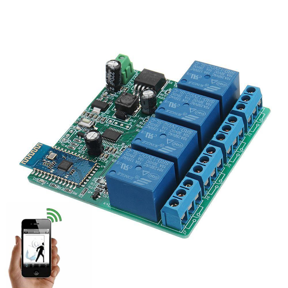 DC 12V Bluetooth Relay Board Mobile Phone Bluetooth Remote Control Switch