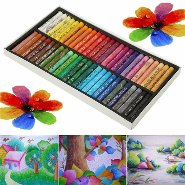 50 colores Crayon no tóxico Oil Pasteles dibujo Pluma Artistas Mecánico dibujo pintura