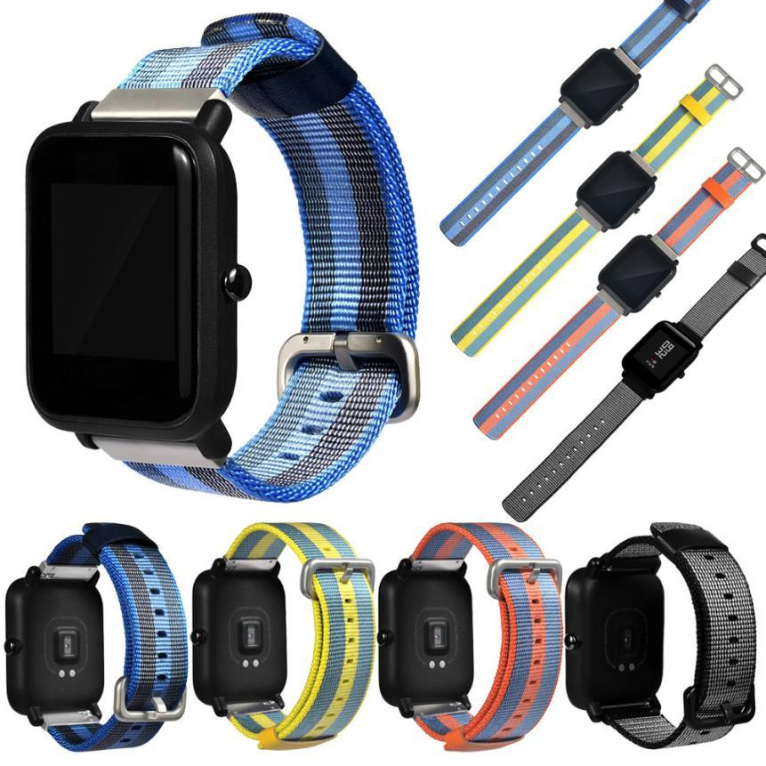 Replacement Canvas Watch Band Strap For Xiaomi Amazfit Bip BIT PACE Lite Youth Smart Watch