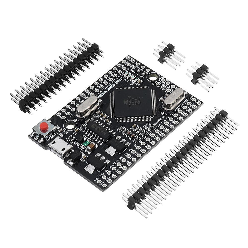 RobotDyn® Mega 2560 PRO (Embed) CH340G ATmega2560-16AU Development Module Board With Pin Headers For Arduino