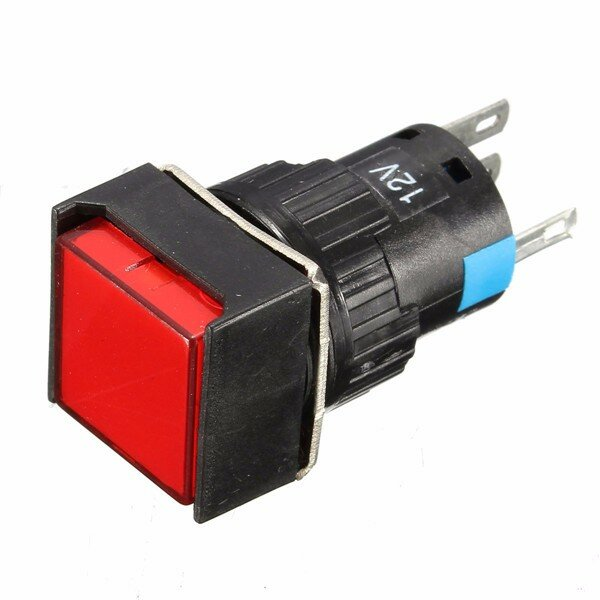 // Uxcell a14081400ux0355 Uxcell DC 12V Light Momentary Rectangle Pushbutton Switch with Connector Dragonmarts Co Ltd