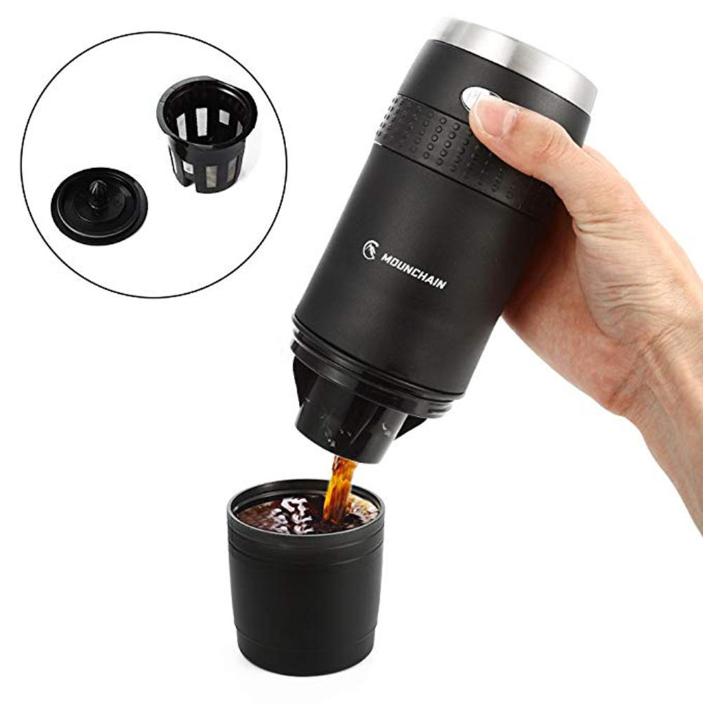 aa0aa3649043 KCASA YR-868 240ml Portable Mini Coffee Machine Personal Coffee Maker Using  Capsule For Home Office Travel Pressure Espresso Coffee Machine