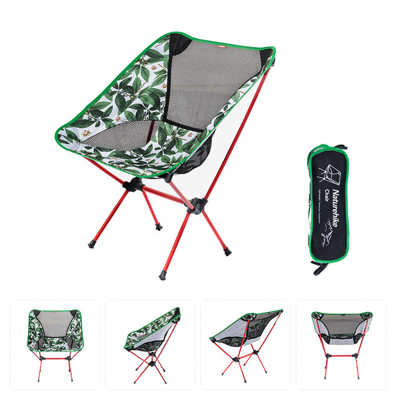 Portable Folding Chairs For Outdoors.Naturehike Portable Folding Chair Ultralight Aluminum Alloy Max Load 90kg Outdoor Camping
