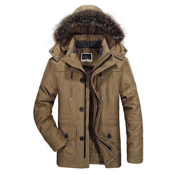 Winter Velvet Plus Áo khoác ngoài trời chống thấm nước dày ấm