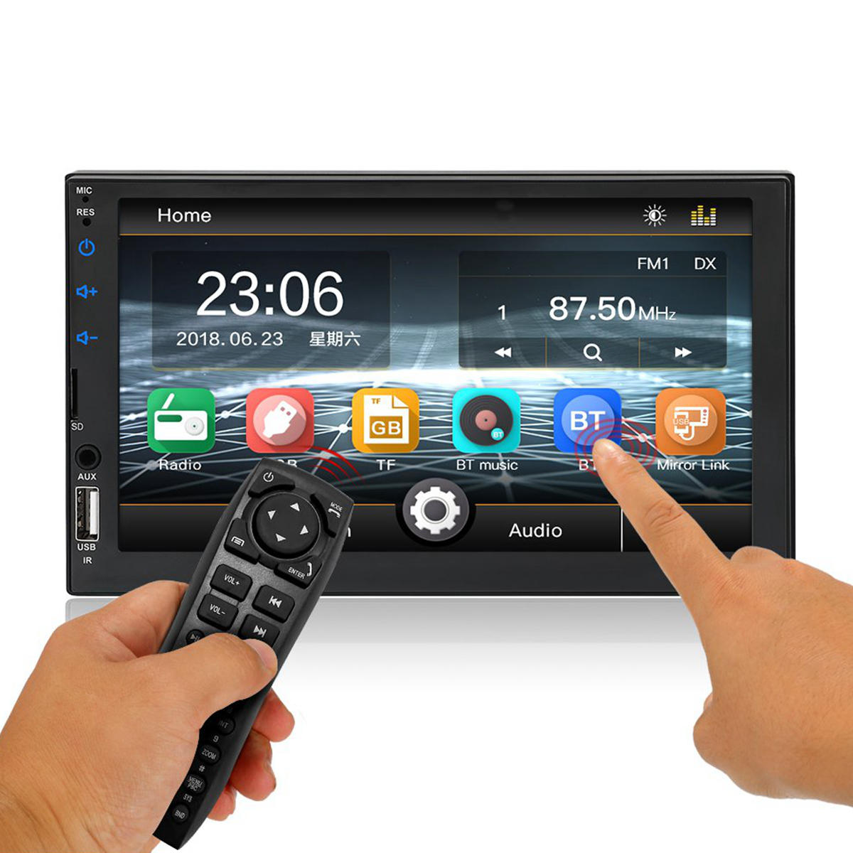 7 Inch 2DIN WINCE Car MP5 Player Touch Screen FM Radio Stereo Remote Control Support Rear Camera