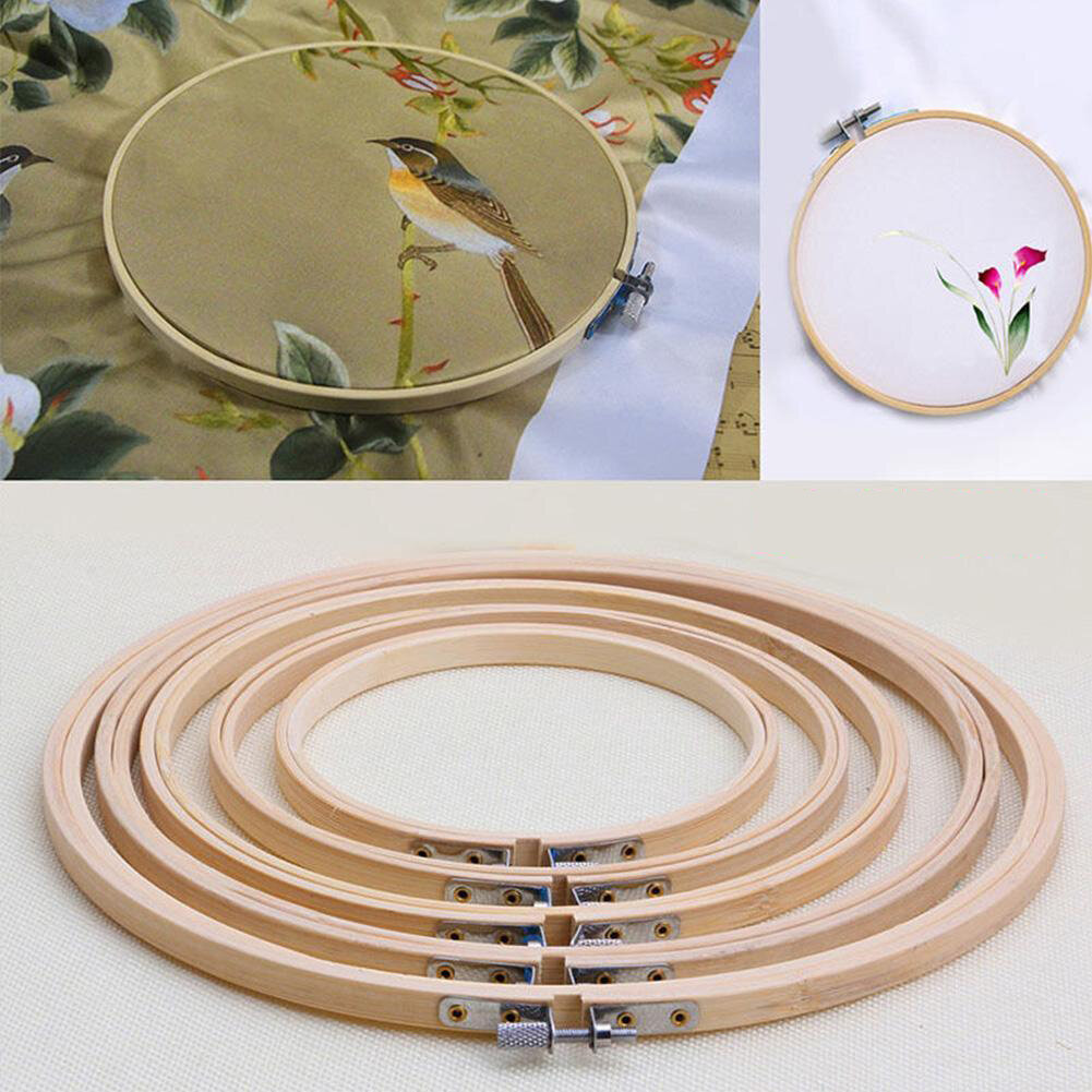 Bamboo Embroidery Round Circle Cross Stitch Sewing Frame Hand Art Craft Supplies