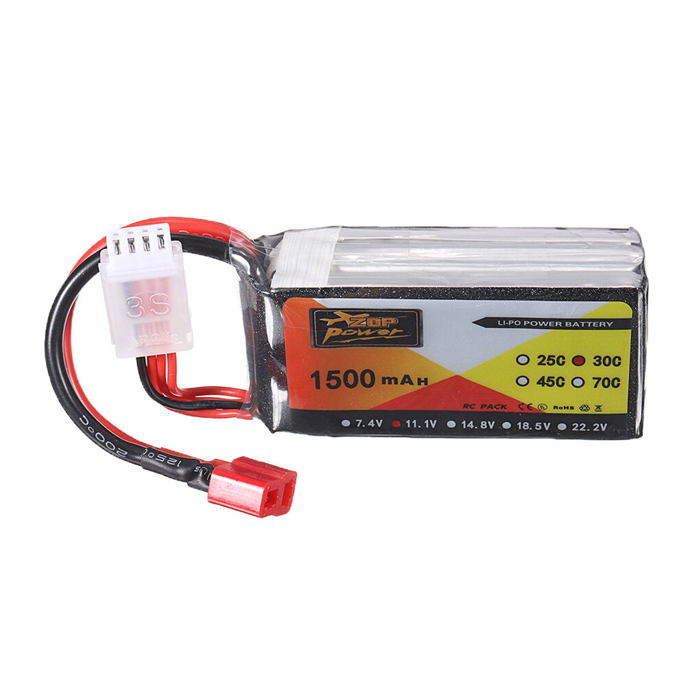 ZOP питания 11.1V 1500mAh 3S 30c Lipo батарея T штепсель