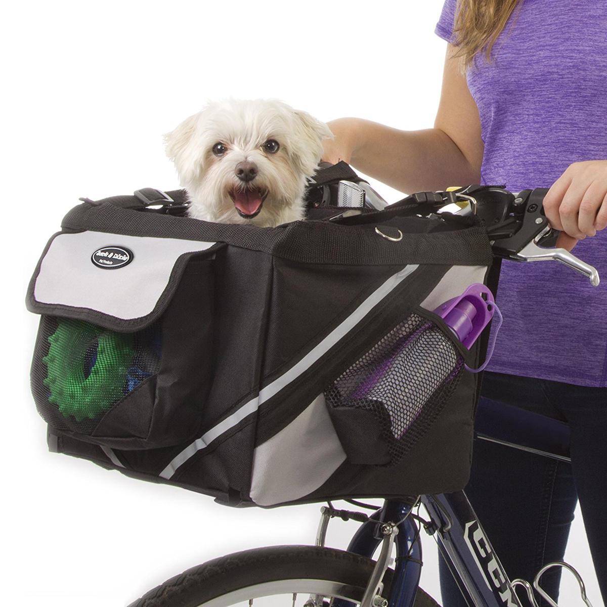 Pet Puppy Bicycle Basket Storage Puppy Ride Bike Canopy Dog Cat Carrier Safety Bike Basket