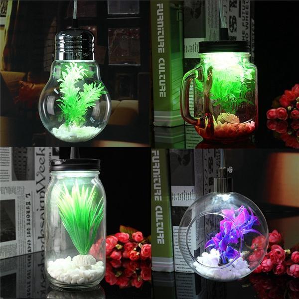 Moderne Jar Schalen Birnen Kugel Art Glaspflanzen Decken hängende helle hängende Lampe für Innendekor