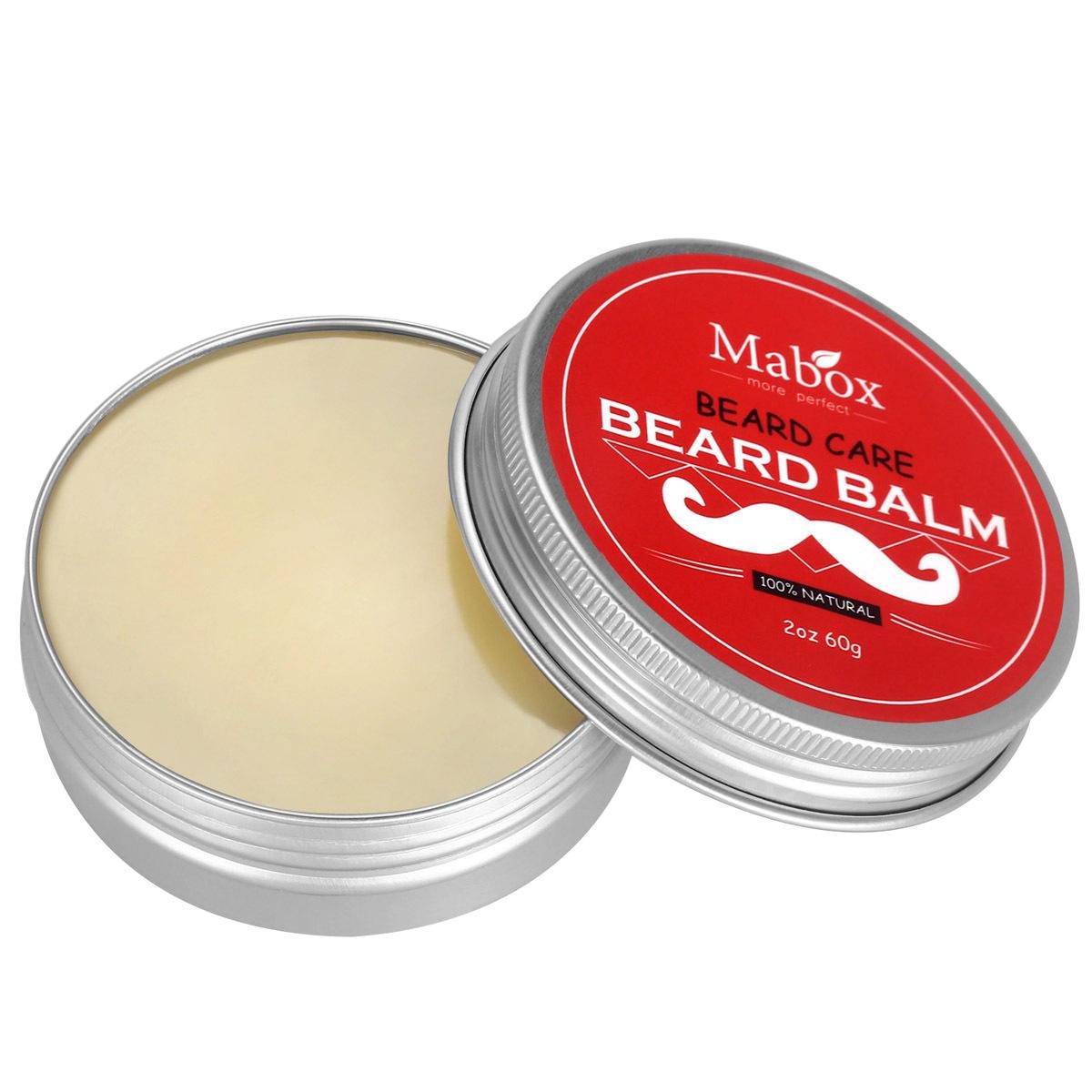 Mabox Beard Balm Moustache Wax for Men Styling Moisturizing Smoothing Conditioner Beard Care 60g