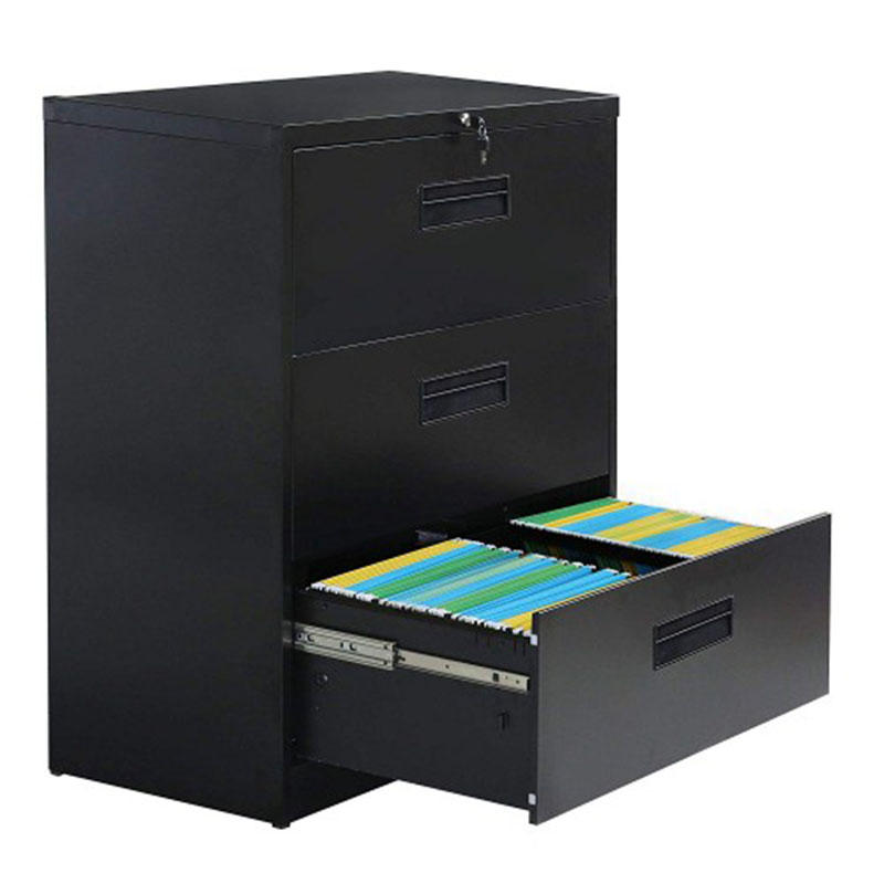 Metal Vertical Lockable File Cabinet with Hanging File Frame for Legal and Business File Drawer Lock