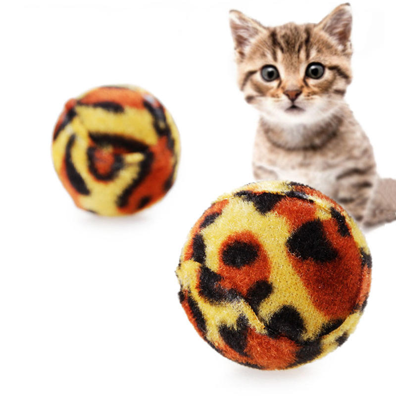 Pet Cat Grinding Claws Leopard Ball Toys Creative Sound Cat Toys Play Chewing Exercise Toys