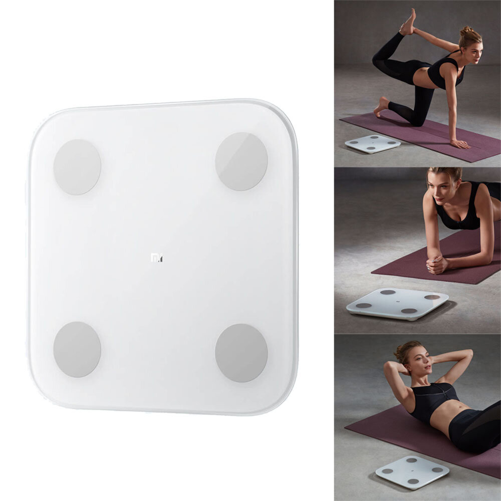 XIAOMI 2.0 Intelligent bluetooth Body Fat Scale Balance Test Health Data Monitor LED Display Precision Body Fat Weight Scale Fitness Yoga Tools Scale