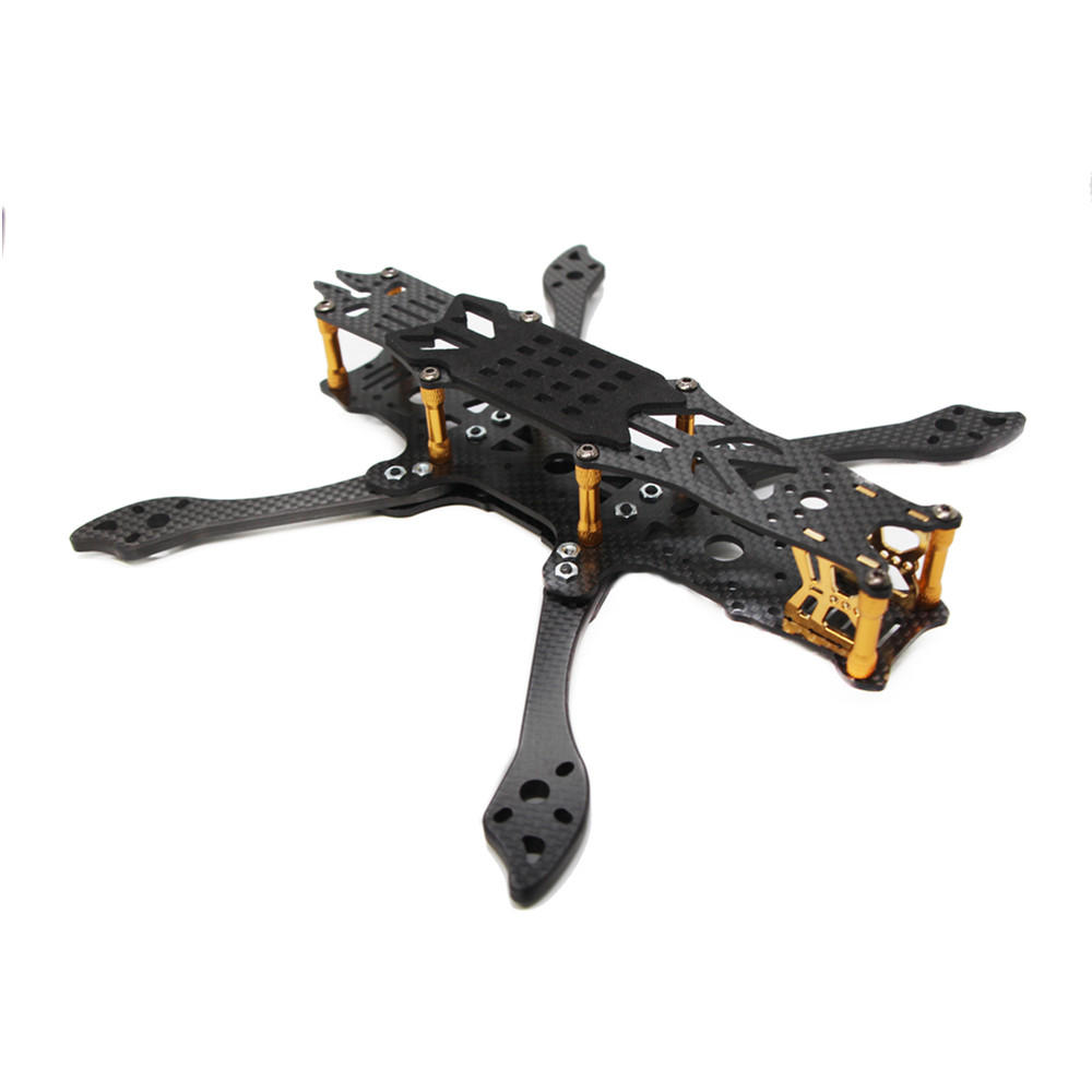 FLYWOO Mr.Croc 225mm 5 Inch FPV Freestyle Carbon Fiber Racing Frame Kit 5mm Arm-Gloden