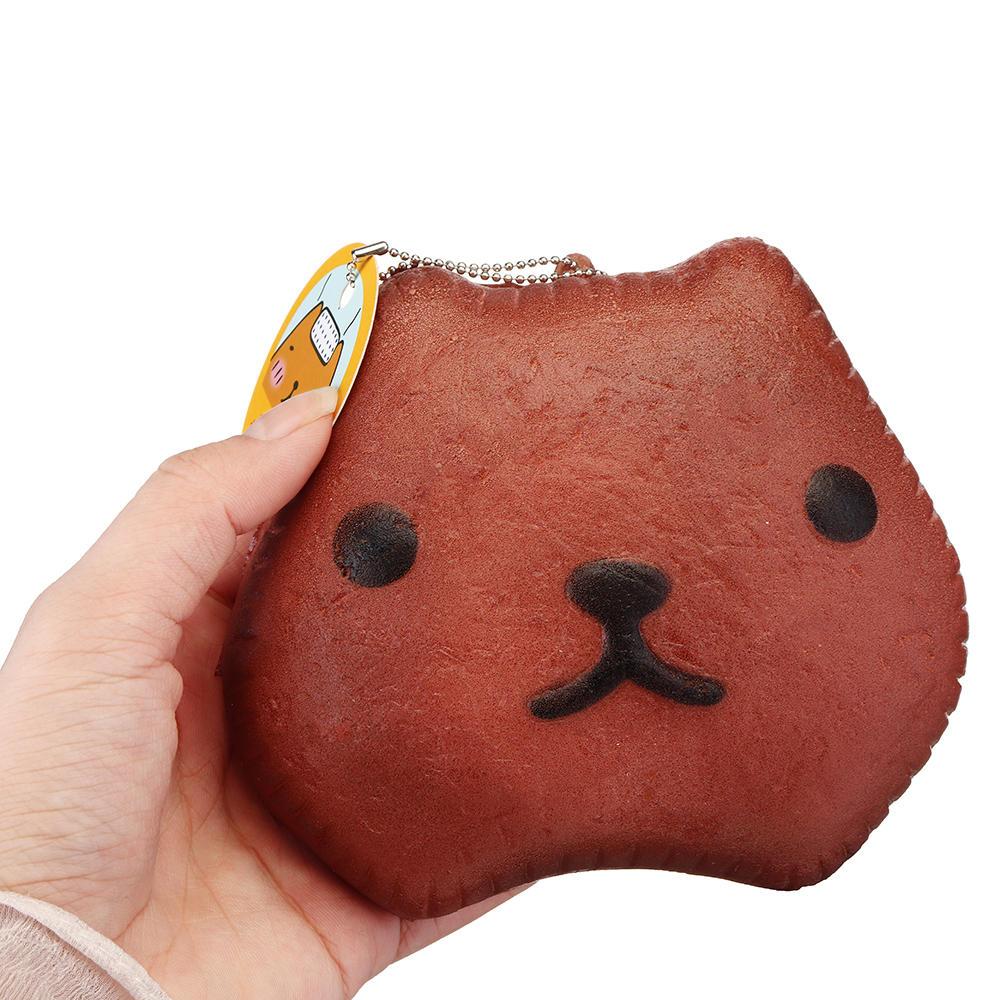 Kapibarasa Capybara Squishy 12cm långsam stigande leksak med bollkedjemärke brödkollektion presentdräkt leksak