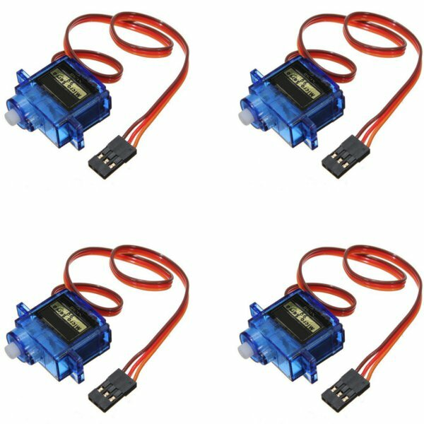 4PCS SG90 Mini Gear Micro Servo 9g For RC Airplane Helicopter