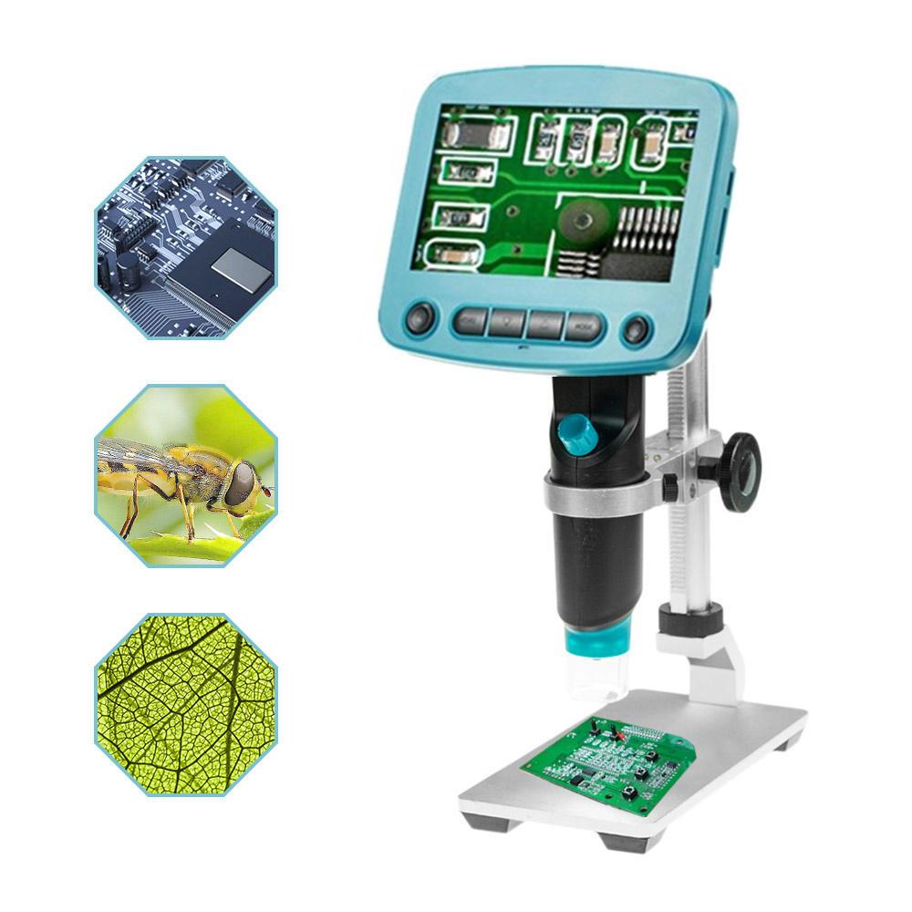 HD 5 .0MP 800X Portable USB Digital LCD Microscope 4.3 Inch LCD Screen+G600 Aluminum Alloy Stand Bracket Holder