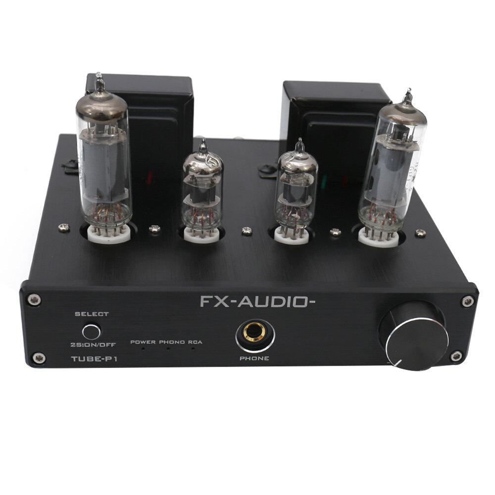 FX-Audio TUBE-P1 HIFI MCU Single Ended Classic A Desktop Power Tube Amplifier Headphone Amplifier RCA/PHONO Input