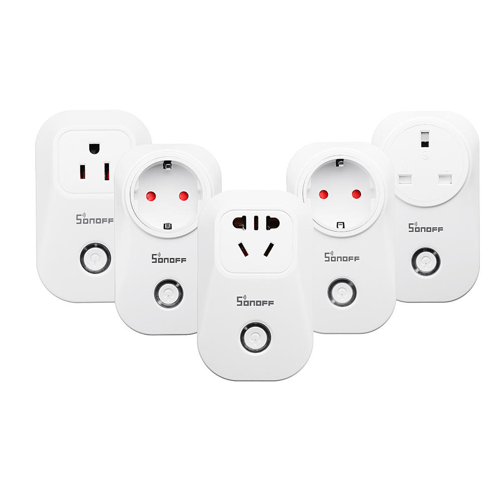 SONOFF® S20 10A 2200W WIFI Wireless Remote Control Socket Smart Timer Plug Smart Home Power Socket EU US UK AU Standard Via App Phone Support Alexa