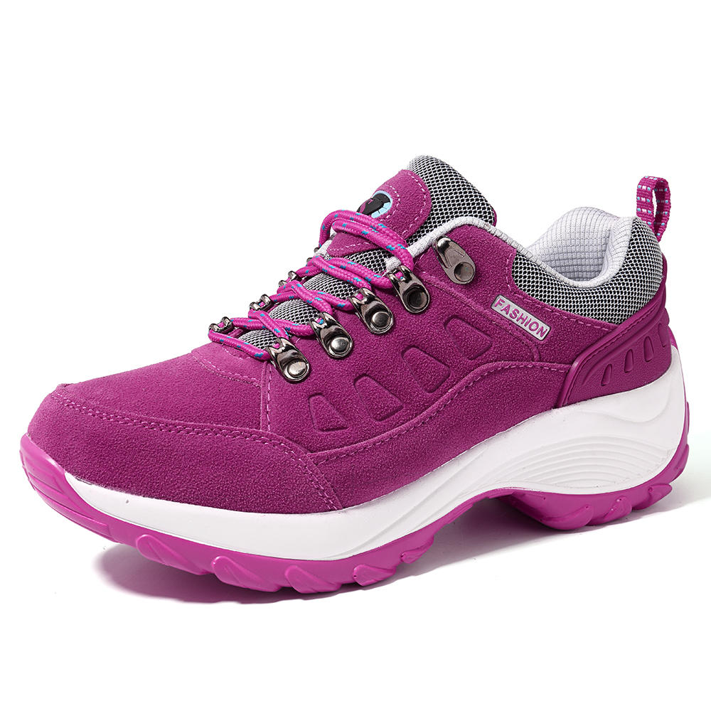 Women Sneakers Rocker Sole Wedge Casual Shoes