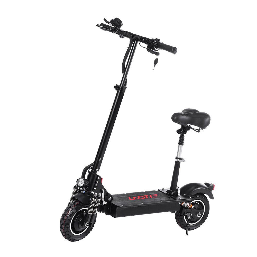 EU DIRECT LAOTIE ES10 2000W Dual Motor 23.4Ah 52V 10 Inches Folding Electric Scooter with Seat 70km or h Top Speed 80km Mileage Max Load 120kg